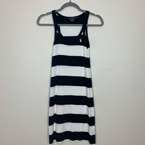 Ralph Lauren Sport Dress black & white Stripes XS